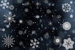 snowflakes, snow, snowfall